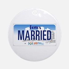 Iowa Marriage Equality Ornament (Round)