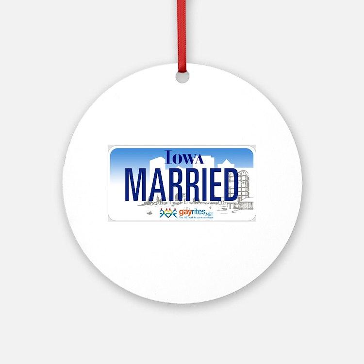 Iowa Marriage Equality Ornament (Round)