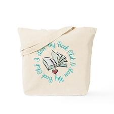I Love My Book Club Tote Bag