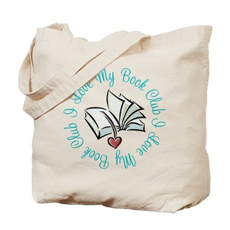 I Love My Book Club Tote Bag