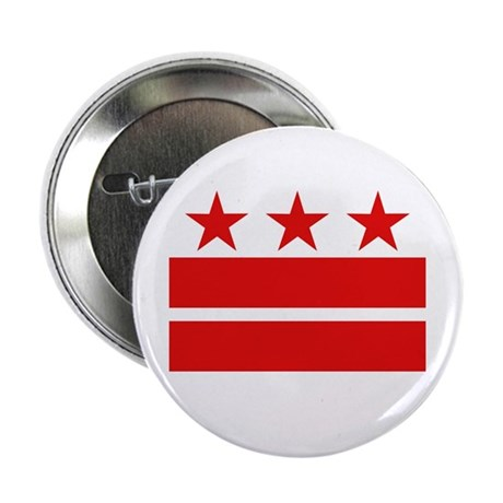 """Three Stars and Two Bars 2.25"""" Button (10 pack)"""