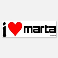 I Heart MARTA Bumper Bumper Bumper Sticker