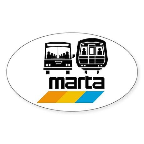 MARTA Oval Sticker