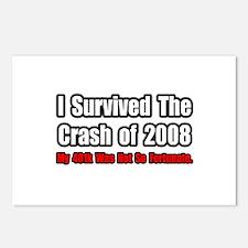 """401k Crash Humor"" Postcards (Package of 8)"