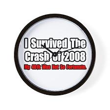 """401k Crash Humor"" Wall Clock"