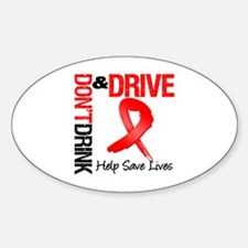 Don't Drink & Drive Oval Decal