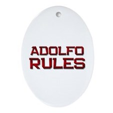 adolfo rules Oval Ornament