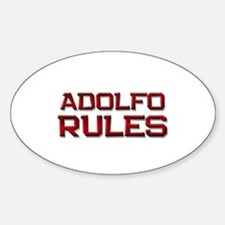 adolfo rules Oval Decal