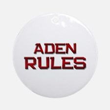 aden rules Ornament (Round)