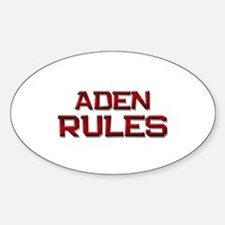 aden rules Oval Decal