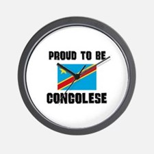 Proud To Be CONGOLESE Wall Clock