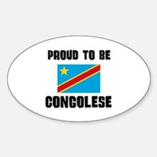 Proud To Be CONGOLESE Oval Decal