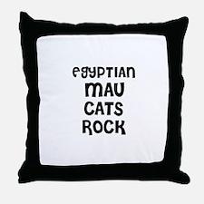 EGYPTIAN MAU CATS ROCK Throw Pillow