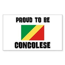 Proud To Be CONGOLESE Rectangle Decal