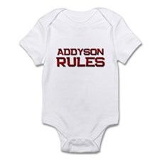 addyson rules Infant Bodysuit