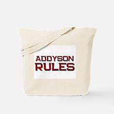 addyson rules Tote Bag