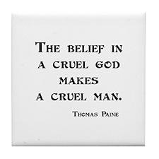 Thomas Paine Tile Coaster