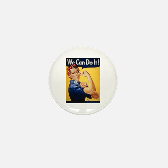 Rosie Riveter We Can Do It Mini Button