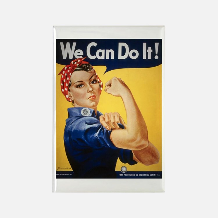 Rosie Riveter We Can Do It Rectangle Magnet