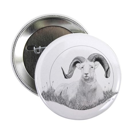 "Dall Sheep 2.25"" Button"