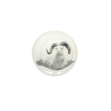 Dall Sheep Mini Button