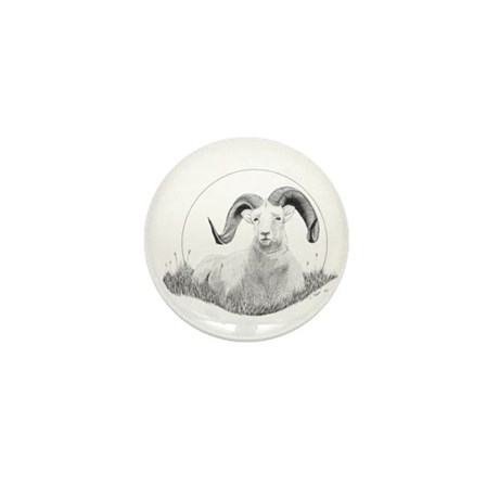 Dall Sheep Mini Button (10 pack)