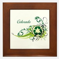 Colorado Recycle T-Shirts and Gifts Framed Tile