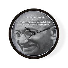 Power of Truth: Gandhi Wall Clock