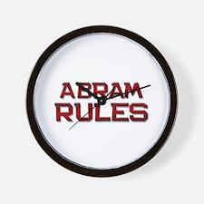 abram rules Wall Clock