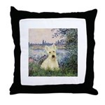 Seine / Scottie (w) Throw Pillow