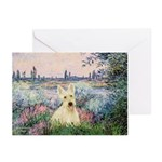 Seine / Scottie (w) Greeting Cards (Pk of 10)