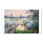 Seine / Scottie (w) Sticker (Rectangle 10 pk)