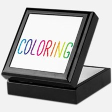 Happiness Is A New Coloring Book Keepsake Box