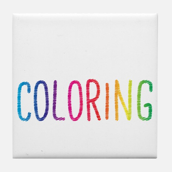 Happiness Is A New Coloring Book Tile Coaster