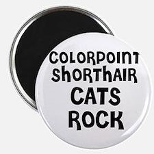 COLORPOINT SHORTHAIR CATS ROC Magnet