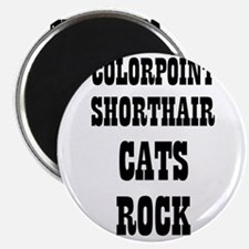 """COLORPOINT SHORTHAIR CATS ROC 2.25"""" Magnet (10 pac"""