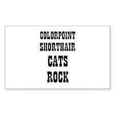 COLORPOINT SHORTHAIR CATS ROC Sticker (Rectangular