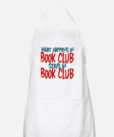 What Happens In Book Club BBQ Apron