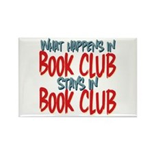 What Happens In Book Club Rectangle Magnet (100 pa