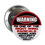 """Right Wing Radical 2.25"""" Button (10 pack)"""