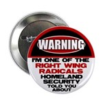 """Right Wing Radical 2.25"""" Button"""