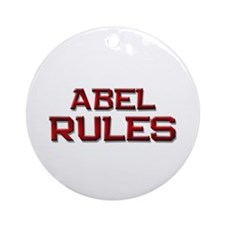 abel rules Ornament (Round)