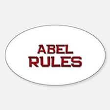 abel rules Oval Decal