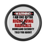 Right Wing Radical Large Wall Clock