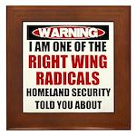 Right Wing Radical Framed Tile