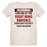 Right Wing Radical Organic Kids T-Shirt