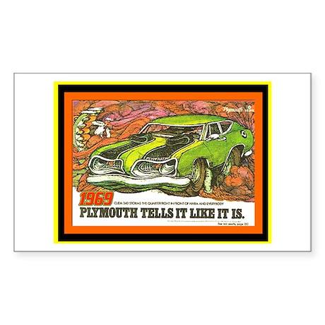 """1969 Barracuda"" Rectangle Sticker"