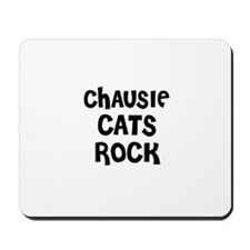 CHAUSIE CATS ROCK Mousepad