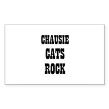 CHAUSIE CATS ROCK Rectangle Decal