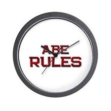 abe rules Wall Clock